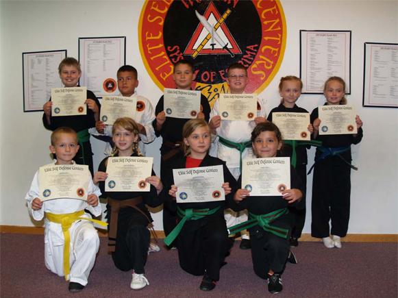 August 2014 Elite Karate Testing
